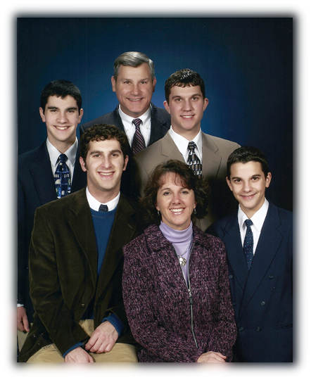 Pastor Guy Simpson and his family
